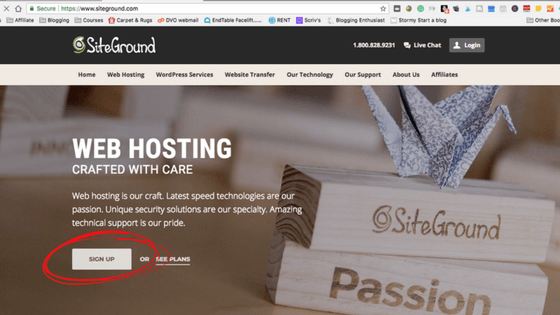 Start a blog on Siteground with WordPress