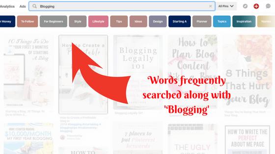 Pinterest related keyword tiles