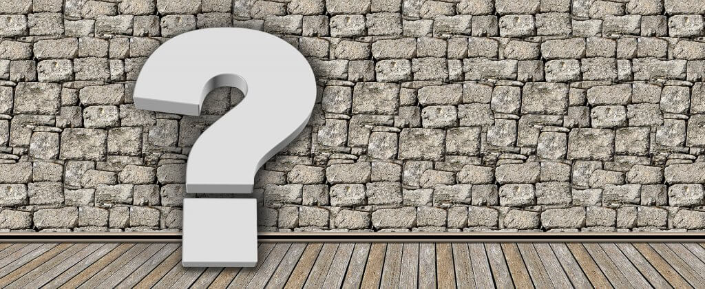 question mark against a brick wall- what is a blog?