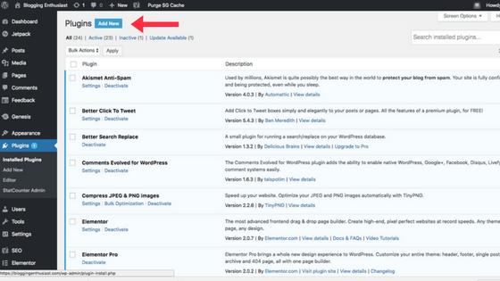 uploading wordpress plugins
