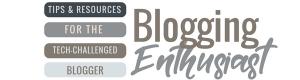Blogging Enthusiast Header